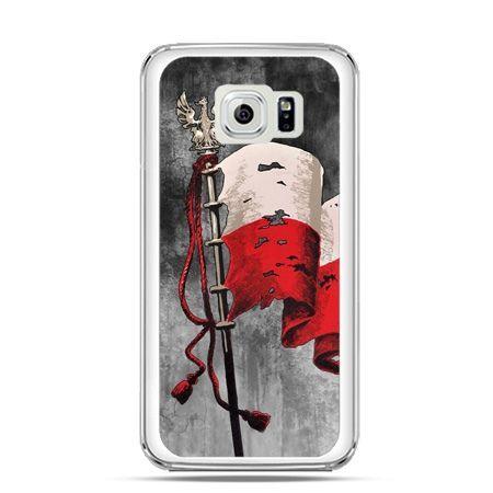 Etui na telefon Galaxy S6 Edge patriotyczne - flaga Polski