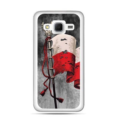 Etui na telefon Galaxy Grand Prime patriotyczne - flaga Polski