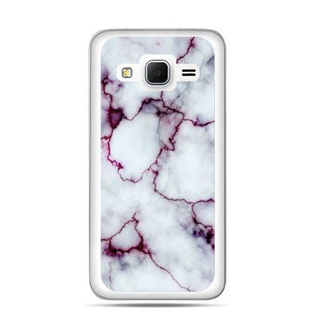 Galaxy Grand Prime etui różowy marmur