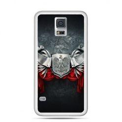 Etui na telefon Galaxy S5 patriotyczne - stalowe godło