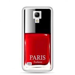 Galaxy S4 etui lakier do paznokci czerwony