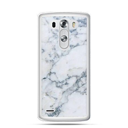 LG G3 etui biały marmur