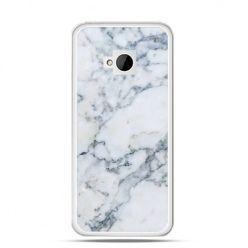 Etui na HTC One M7 biały marmur