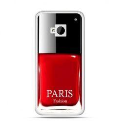 Etui na HTC One M7 lakier do paznokci czerwony