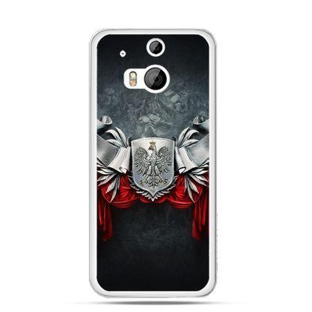 Etui na telefon HTC One M8 patriotyczne - stalowe godło