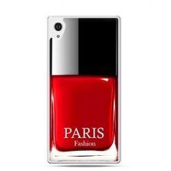 Xperia Z1 etui lakier do paznokci czerwony