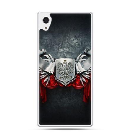 Etui na telefon Xperia Z3 patriotyczne - stalowe godło