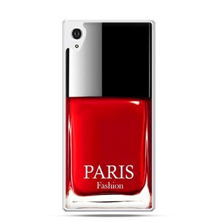 Xperia Z3 etui lakier do paznokci czerwony