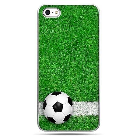 Etui na telefon piłka nożna - piłka na murawie.