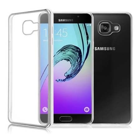 Samsung Galaxy A3 2016r  przezroczyste etui platynowane SLIM srebrne.