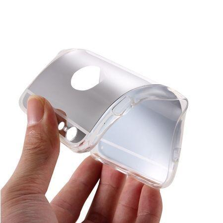 iPhone 6 / 6s lustro - etui lustrzane - mirror silikonowe TPU - srebrne.