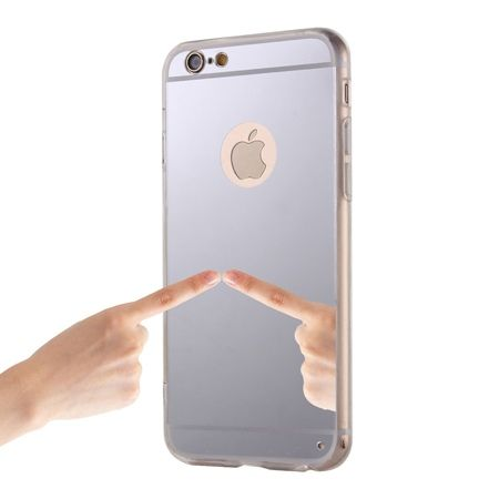 iPhone 5 / 5s lustro - mirror, silikonowe elastyczne TPU - srebrne.