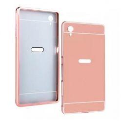 Mirror bumper case na Xperia M4 Aqua (Rose Gold) - Różowy