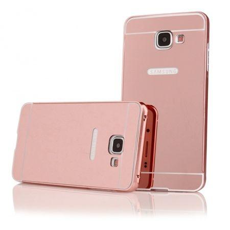 Mirror bumper case na Galaxy A5 2016  (Rose Gold) - Różowy