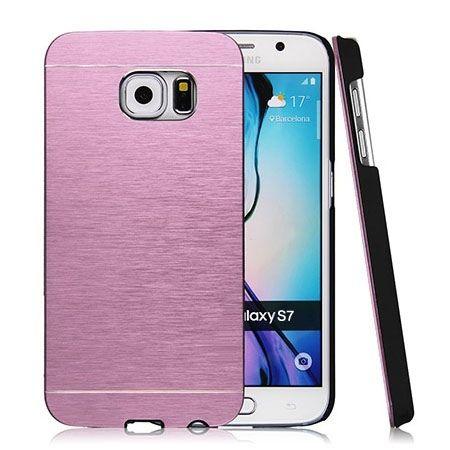 Galaxy S7 etui Motomo aluminiowe różowy. PROMOCJA !!!