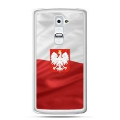 Etui na telefon LG G2 patriotyczne - flaga Polski z godłem