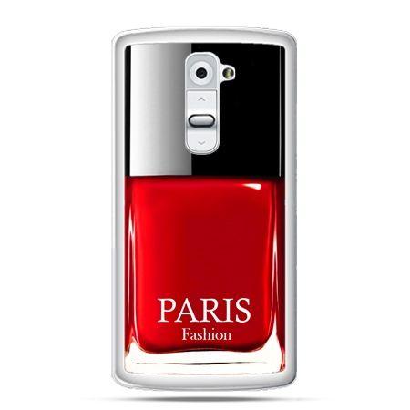 Etui na telefon LG G2 lakier do paznokci czerwony