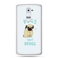 Etui na telefon LG G2 Pugs not drugs