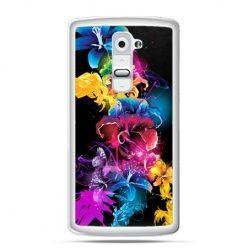 Etui na telefon LG G2 kolorowe kwiaty