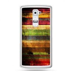 Etui na telefon LG G2 kolorowe deski