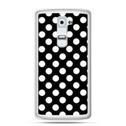 Etui na telefon LG G2 Polka dot czarna