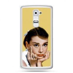 Etui na telefon LG G2 Audrey Hepburn Fuck You