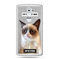 Etui na telefon LG G2 grumpy kot zrzęda