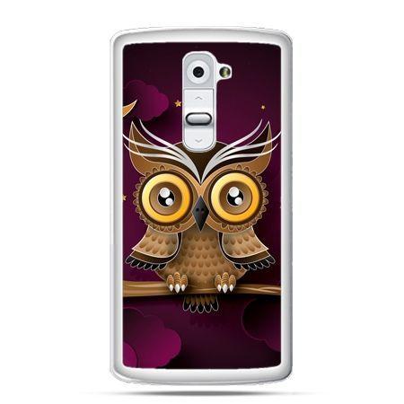 Etui na telefon LG G2 sowa na gałęzi