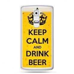 Etui na telefon LG G2 keep calm and drink beer