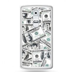 Etui na telefon LG G2 dolary banknoty