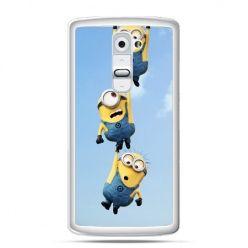 Etui na telefon LG G2 spadające minionki