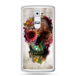 Etui na telefon LG G2 czaszka z kwiatami
