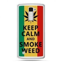 Etui na telefon LG K10 Keep Calm and Smoke Weed