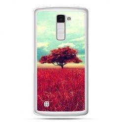 Etui na telefon LG K10 czerwone drzewo