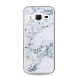 Etui na Galaxy J3 (2016r) biały marmur