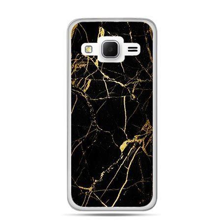 Etui na Galaxy J3 (2016r) złoty marmur