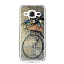 Etui na Galaxy J3 (2016r) rower z kwiatami