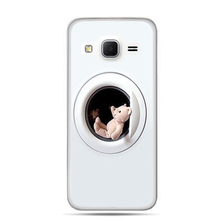 Etui na Galaxy J3 (2016r) miś w pralce