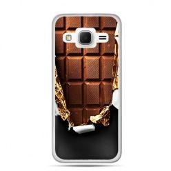 Etui na Galaxy J3 (2016r) czekolada