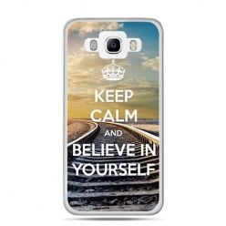 Etui na Galaxy J5 (2016r) Keep Calm and Believe in Yourself