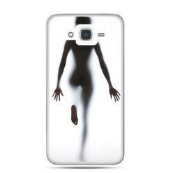 Etui na Galaxy J7 (2016r) kobieta za szybą