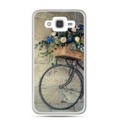 Etui na Galaxy J7 (2016r) rower z kwiatami