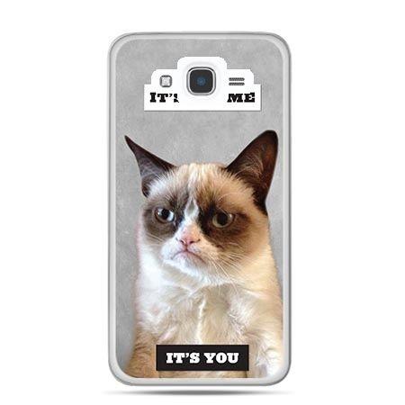 Etui na Galaxy J7 (2016r) grumpy kot zrzęda