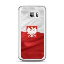 Etui na telefon Galaxy S7 Edge patriotyczne - flaga Polski z godłem