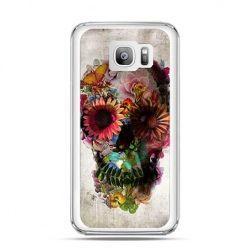 Etui na telefon Galaxy S7 Edge czaszka z kwiatami