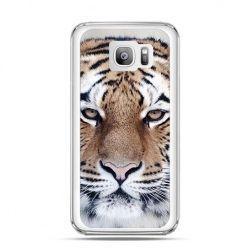 Etui na telefon Galaxy S7 Edge śnieżny tygrys
