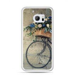 Etui na telefon HTC 10 rower z kwiatami