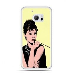 Etui na telefon HTC 10 Audrey Hepburn z papierosem