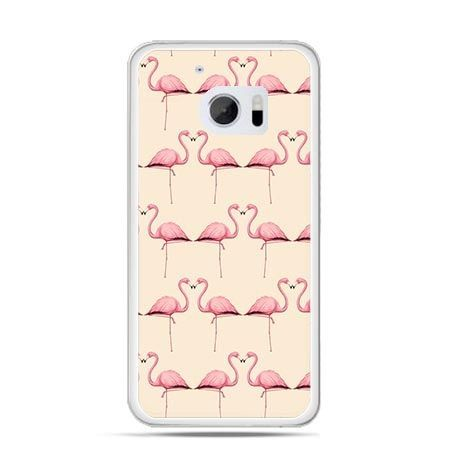 Etui na telefon HTC 10 flamingi