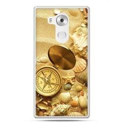 Etui na telefon Huawei Mate 8 kompas na plaży